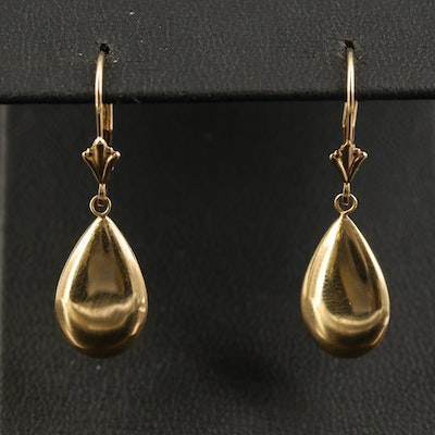 14K Teardrop Earrings