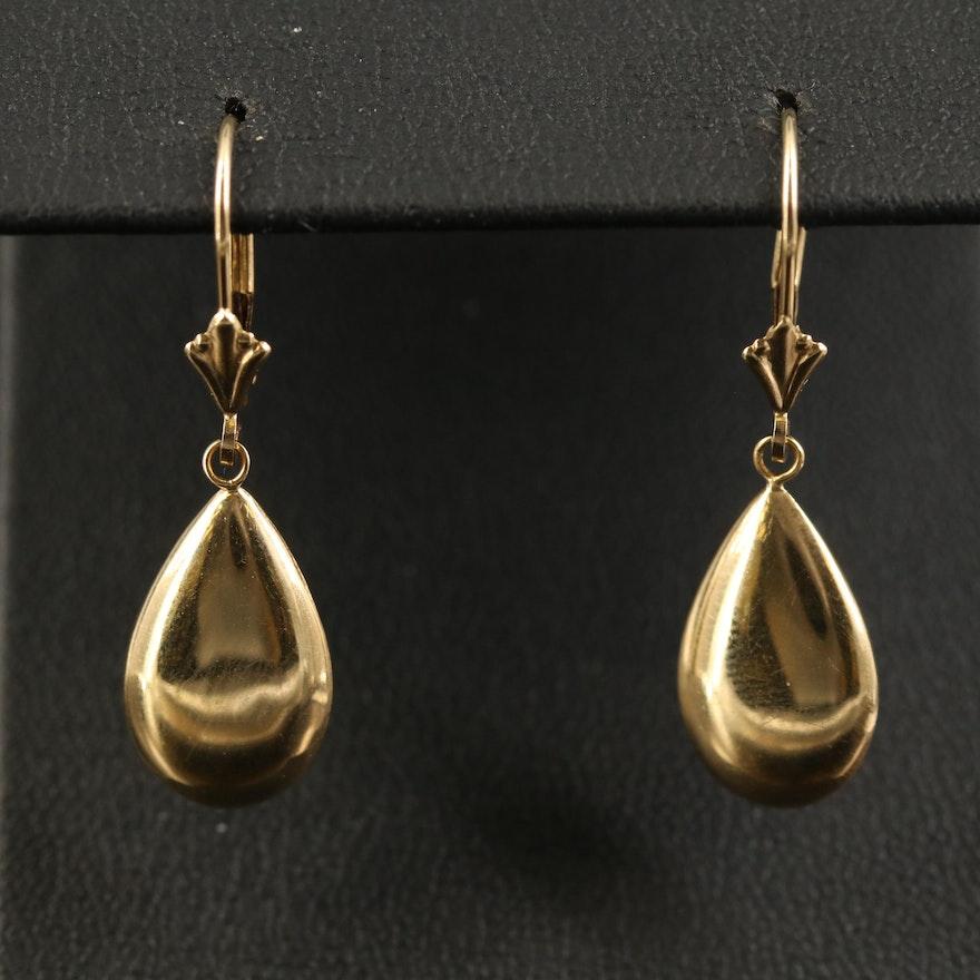 14K Teardrop Earrings