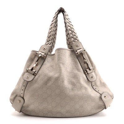 Gucci Pelham Medium Shoulder Bag in Beige Guccissima Leather