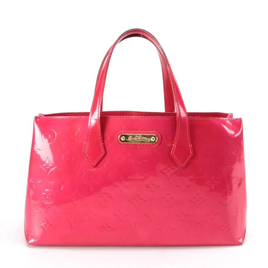 Louis Vuitton Wilshire PM in Monogram Rose Pop Vernis