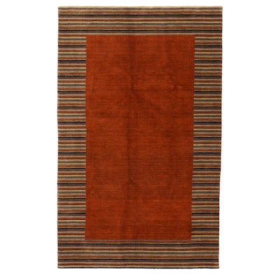 5'1 x 8'1 Hand-Knotted Afghan Gabbeh Area Rug