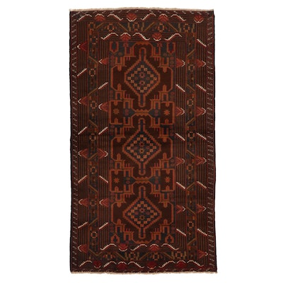 3'7 x 6'8 Hand-Knotted Afghan Baluch Area Rug