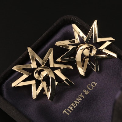 """Paloma Picasso for Tiffany & Co. """"Starburst"""" 18K Earrings"""