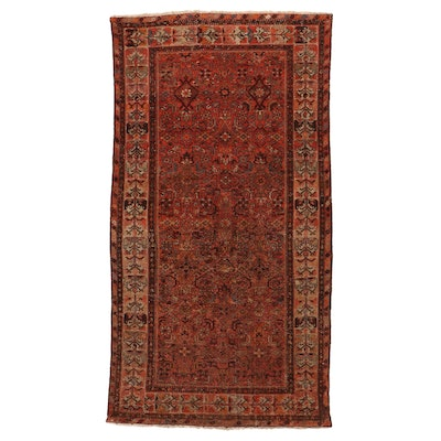 5'1 x 9'7 Hand-Knotted Persian Malayer Area Rug, Mid-Late 20th Century