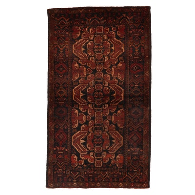 3'10 x 6'8 Hand-Knotted Afghan Baluch Wool Area Rug