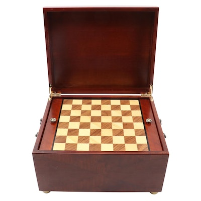 The Bombay Company Wood Desk Game Chest