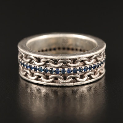 Stephen Webster Sterling Sapphire Band
