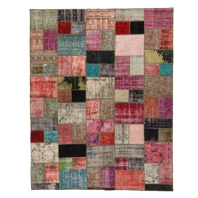 7'9 x 9'10 Handmade Turkish Patchwork Area Rug