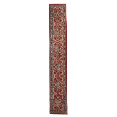 2'6 x 15'6 Hand-Knotted Indo-Persian Kashan Carpet Runner