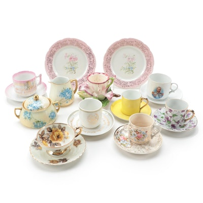 Austrian Victorian King George V Commemorative Teacup and Other Tableware