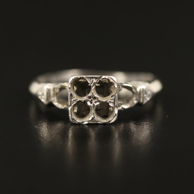 Vintage Platinum Open-Mount Ring