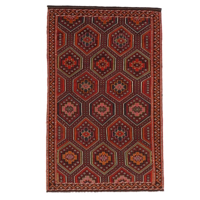 5'8 x 9'1 Handwoven Turkish Village Zili Brocade Area Rug