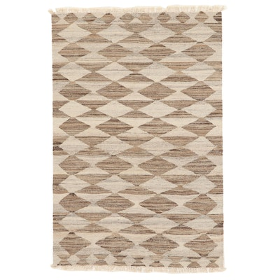 3'11 x 6'1 Handwoven Turkish Kilim Area Rug