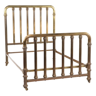 Brass Full Size Bed Frame, Early 20th Century