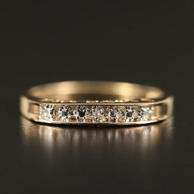 "10K Diamond ""I Love You"" Bar Ring"