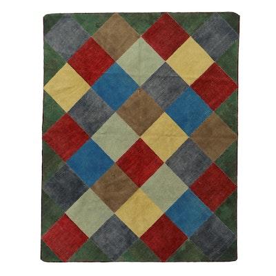 8'1 x 10'4 Handmade Modern Style Patchwork Area Rug