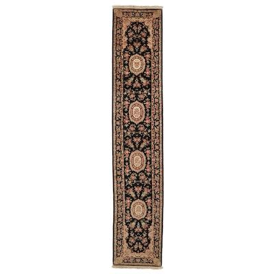 2'4 x 12'2 Hand-Knotted Persian Tabriz Carpet Runner