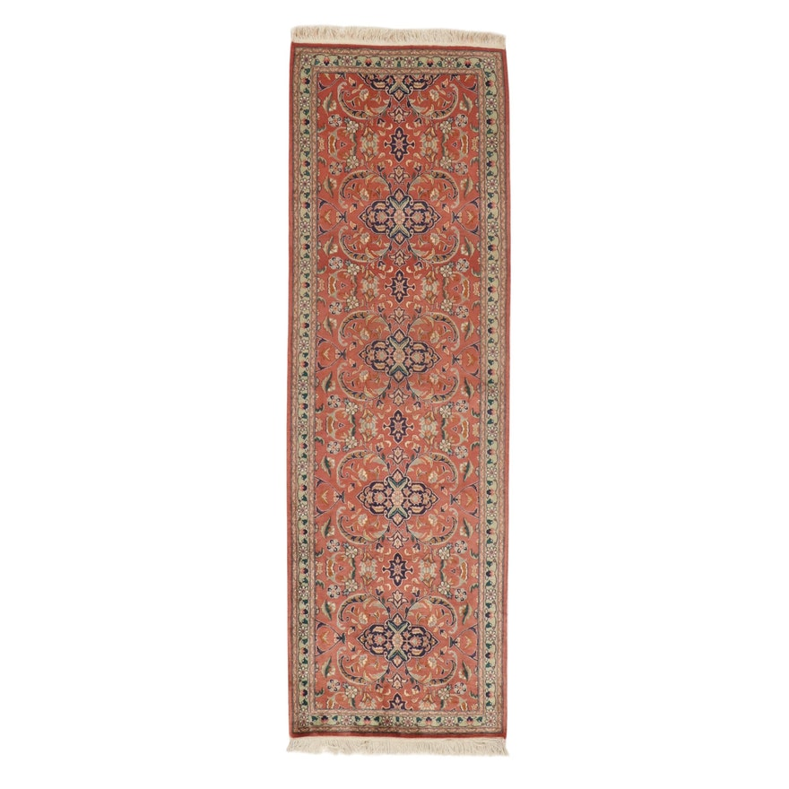 2'8 x 8'8 Hand-Knotted Indo-Persian Carpet Runner