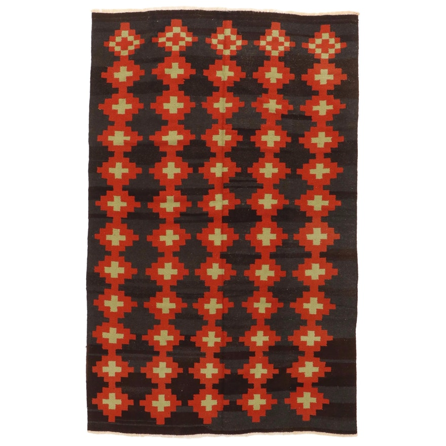 6' x 9'8 Handwoven Afghan Village Kilim Area Rug