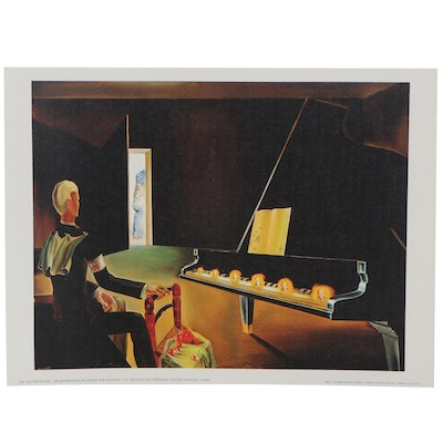 "Offset Lithograph after Salvador Dalí ""Six Appearances of Lenin on a Piano"""