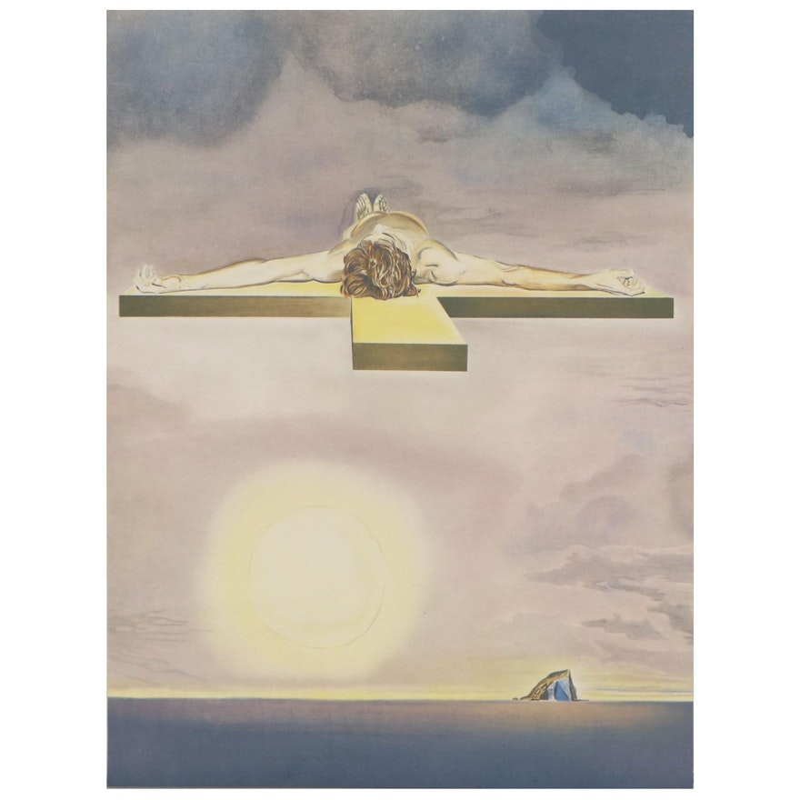 "Lithograph after Salvador Dalí ""Le Christ de Gala,"" Late 20th Century"