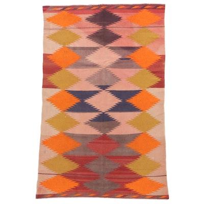 6'7 x 9'10 Handwoven Afghan Village Kilim Area Rug