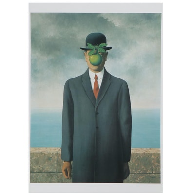 "Offset Lithograph after René Magritte ""Son of a Man"""