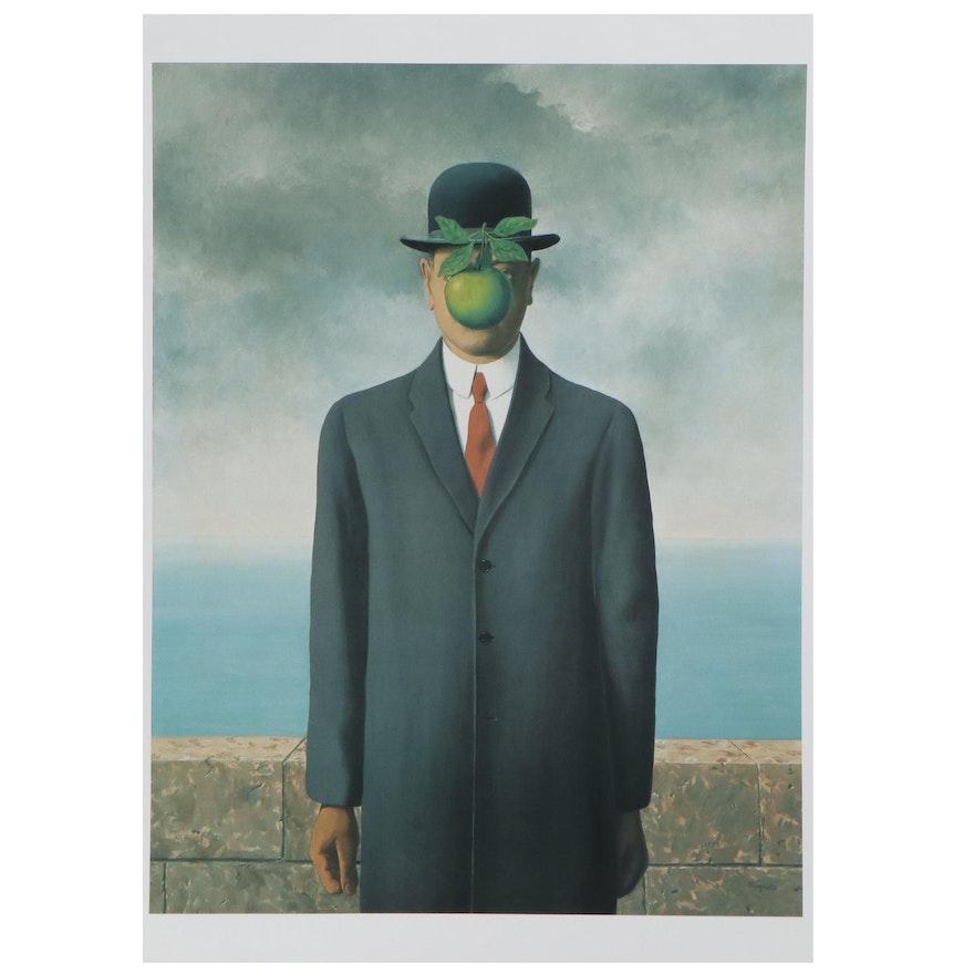 "Offset Lithograph after René Magritte ""Son of a Man"""