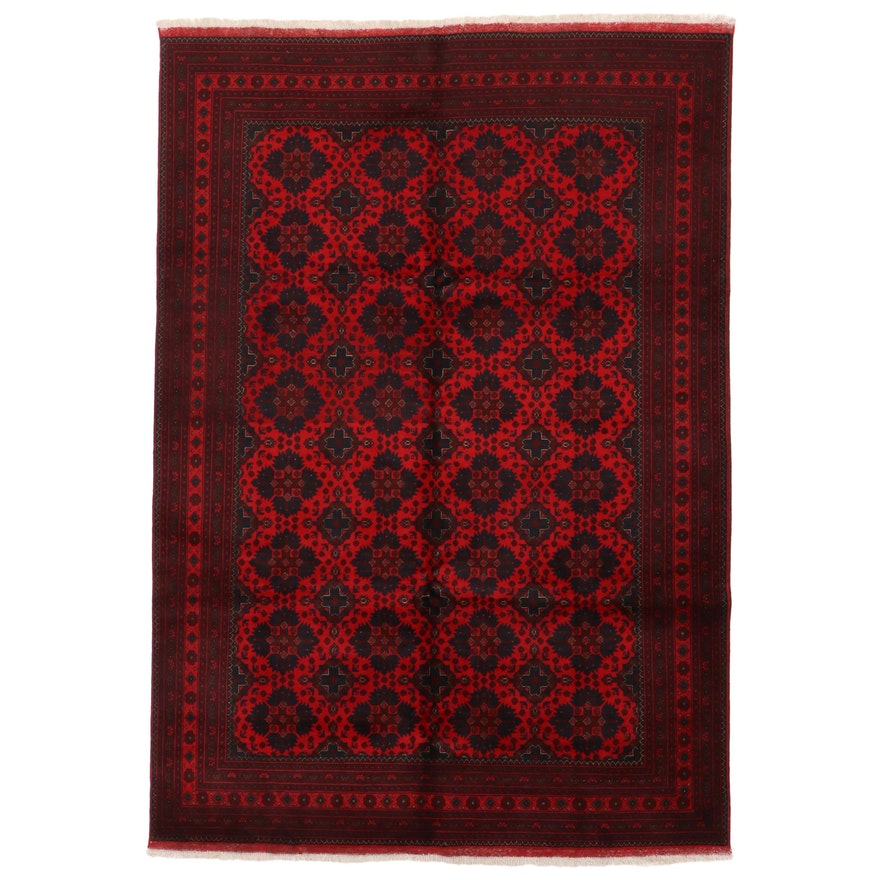 6'11 x 10'3 Hand-Knotted Afghan Kunduz Area Rug