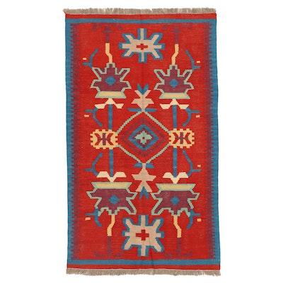 3'1 x 5'3 Hand-Knotted Afghan Kilim Area Rug