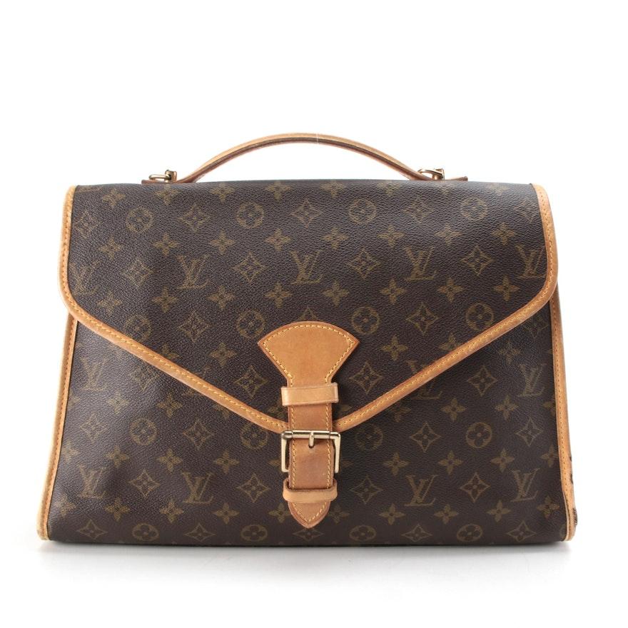 Louis Vuitton Beverly GM Briefcase in Monogram Canvas and Vachetta Leather