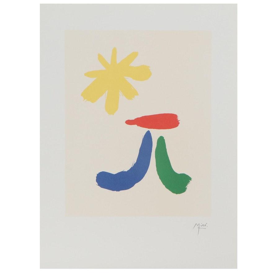 """Lithograph after Joan Miró """"Parler Seul XIV"""""""