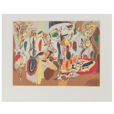 "Serigraph after Arshile Gorky ""The Liver is the Cock's Comb,"" 1991"