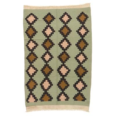 6'3 x 10' Handwoven Afghan Village Kilim Area Rug