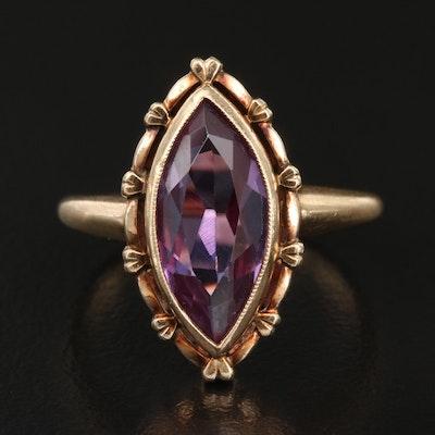 Retro Metzler Mfg Co. 10K Color-Change Sapphire Ring