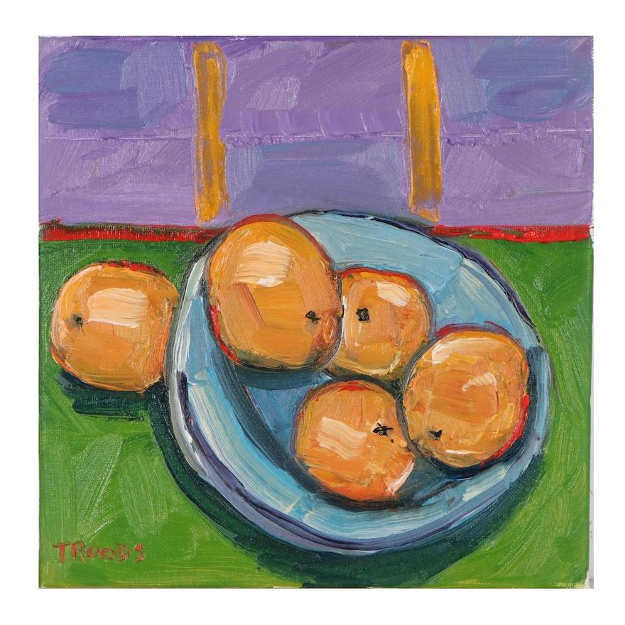 "Patricia Nolan-Brown Oil Painting ""Orange,"" 2021"