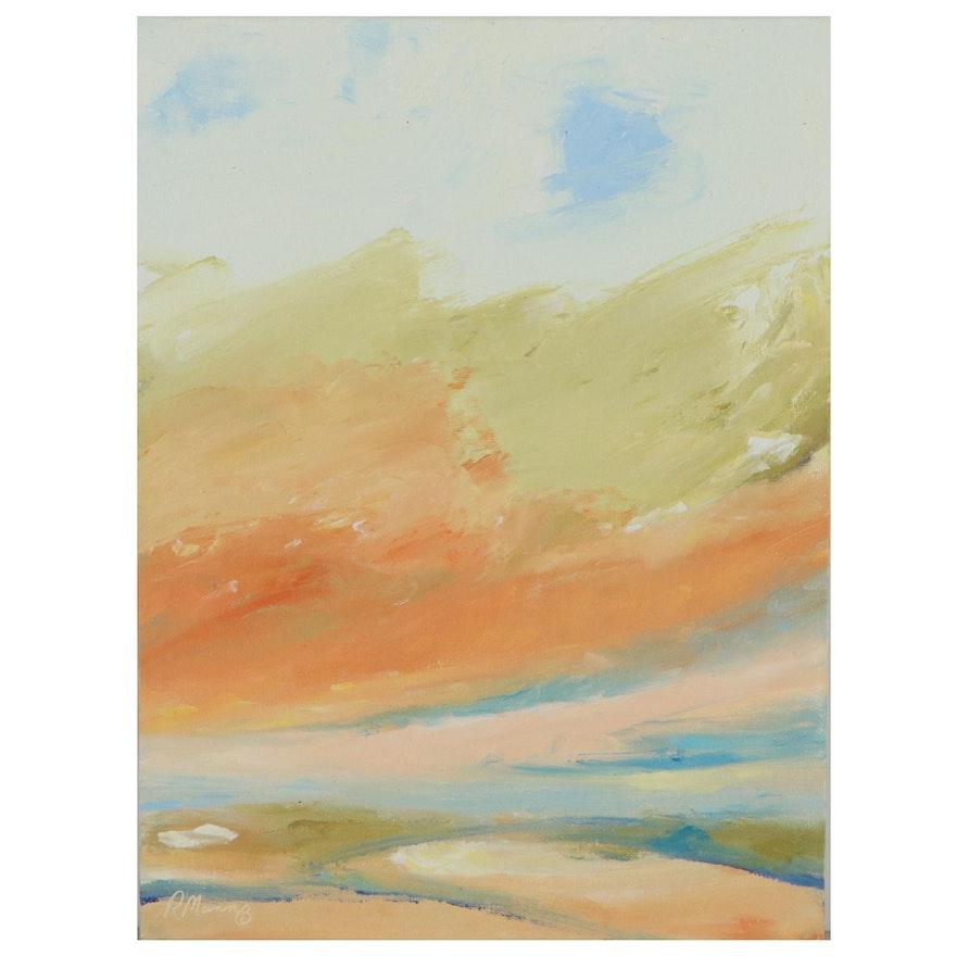 """Rebecca Manns Oil Painting """"Golden Morning,"""" 2021"""