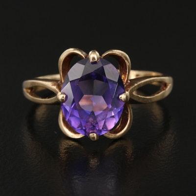 Vintage 10K Color-Change Sapphire Ring