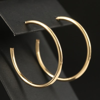14K Tube Hoop Earrings
