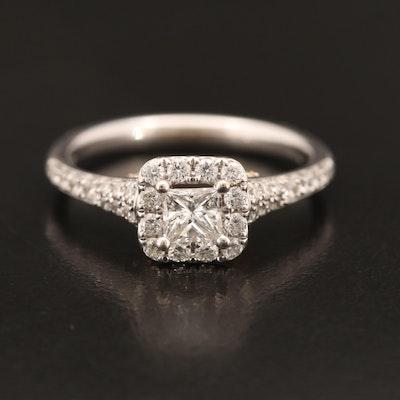 "Enchanted Disney 14K ""Tinker Bell"" Diamond Ring"
