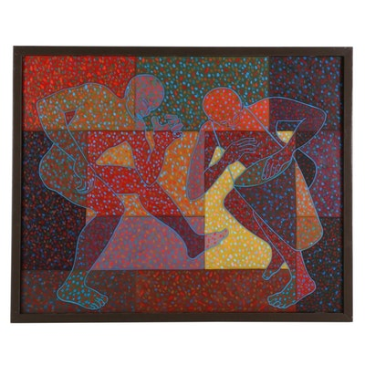 "Farnoosh Lanjani Oil Painting ""Dance II,"" 2004"