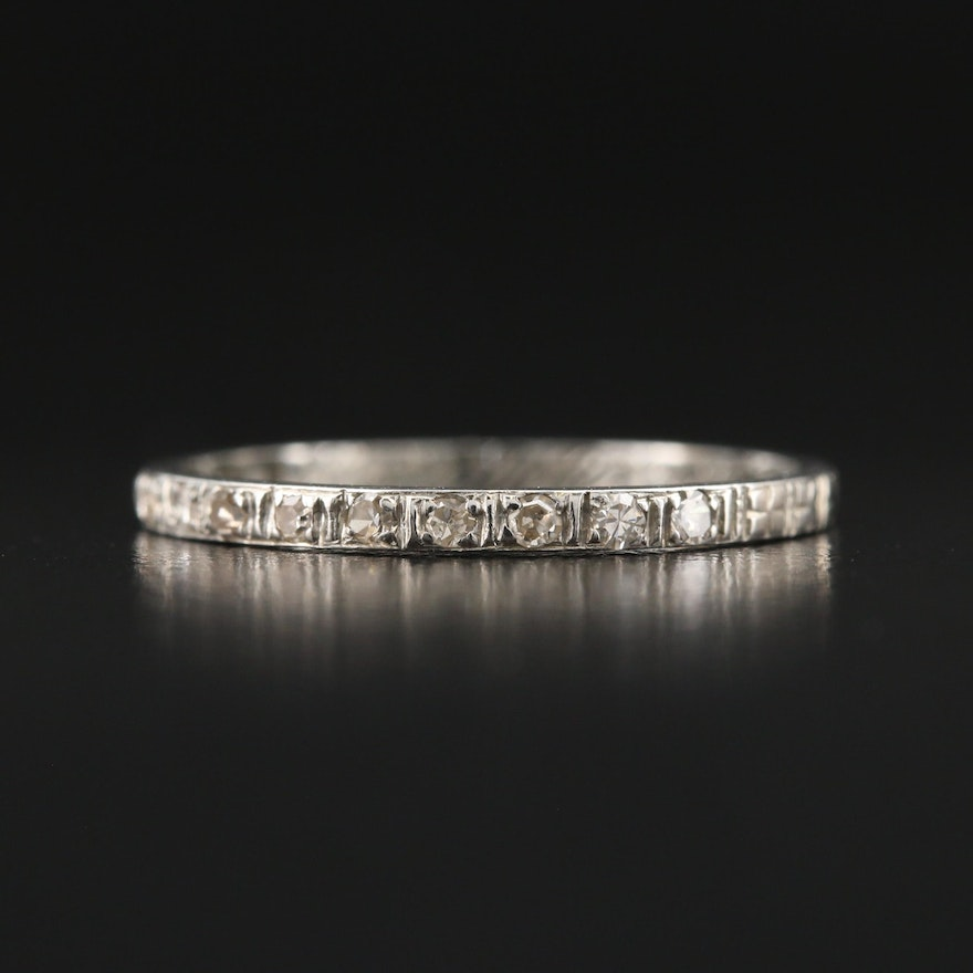 1930s 18K Diamond Eternity Band