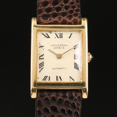Vintage Universal Geneve 18K Yellow Gold Automatic Wristwatch