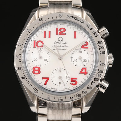 "Omega ""Speedmaster"" Reduced Automatic Wristwatch with Mother of Pearl Dial"