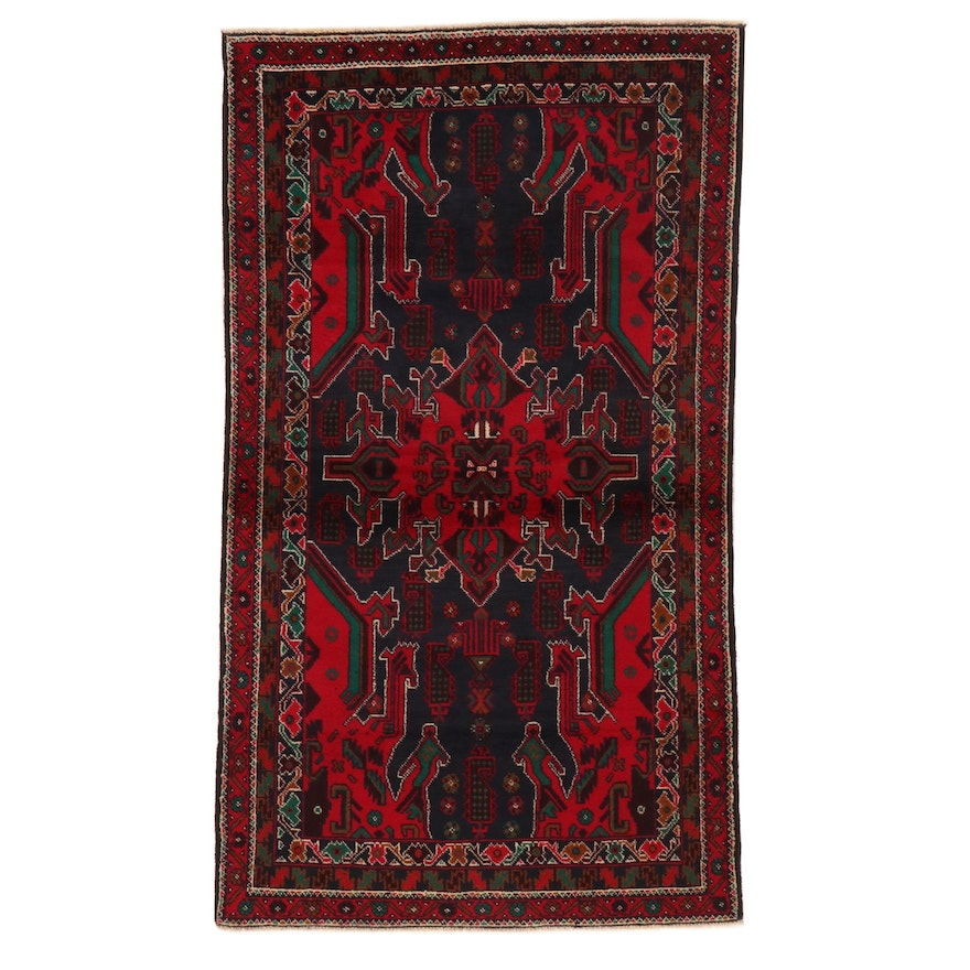 3'5 x 6'1 Hand-Knotted Afghan Baluch Area Rug