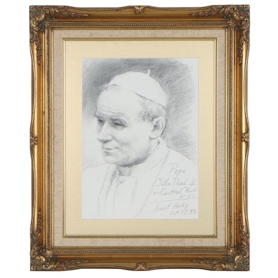 Halftone of Pope John Paul II, 21st Century
