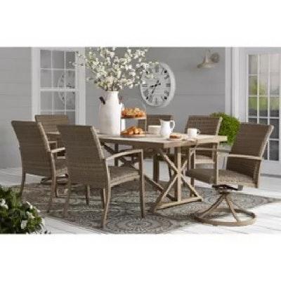 "Member's Mark Contemporary ""Agio Heartland Collection"" Seven-Piece Dining Set"