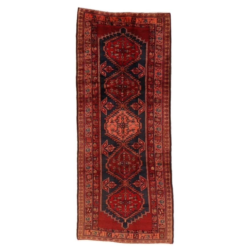 4'2 x 10' Hand-Knotted Persian Sarab Long Rug