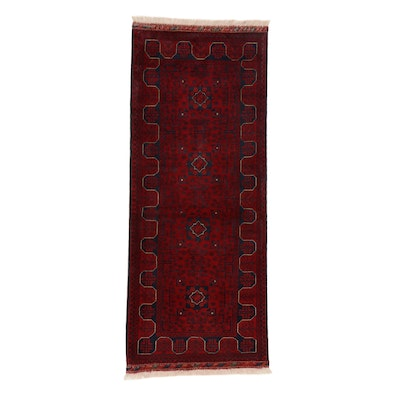 2'7 x 6'8 Hand-Knotted Afghan Kunduz Carpet Runner