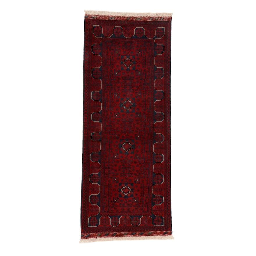 2'7 x 6'8 Hand-Knotted Afghan Kunduz Carpet Runner